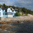 Quebec, the picturesque village of Tadoussac - Stock Photo