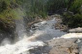 Quebec, parc du trou de la cuota en desbiens — Foto de Stock