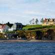 Quebec, the coast of Perce in Gaspesie - Stock Photo