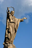 Quebec, bronze statue of Jesus in Saint Jean — Stock Photo