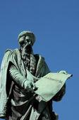 Alsácia, a estátua de gutenberg em estrasburgo — Foto Stock
