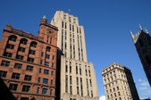 Canada, old building of Place d Armes inMontreal — Stock Photo