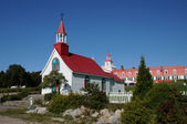 Quebec, the historical chapel of Tadoussac — Stock Photo