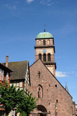 The church of Kaysersberg in Alsace — Stock Photo