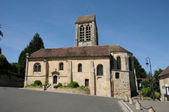 Ile de France, the old church of Jouy le Comte — Stock Photo