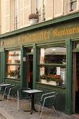 Gevel van een restaurant in chartres — Stockfoto