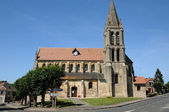 The old church of Nesles la Vallee — Stock Photo