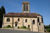 Ile de France, the old church of Jouy le Comte — Stock Photo