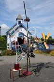 κεμπέκ, το μικρό χωριό της bonne περιπέτεια魁北克省,小村庄的邦纳艳遇 — 图库照片
