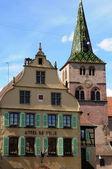 The church of Turckheim in Haut Rhin — Stock Photo