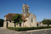 Val d Oise, the old church of Breancon — Stock Photo