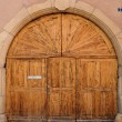 Alsace, an old door in Turckheim in Haut Rhin — Stock Photo