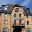 Brittany, hotel Castel Beau Site in Ploumanac h - Stock Photo
