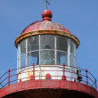 Quebec, the lighthouse of Sainte Madeleine de la Riviere Madelei - Stock Photo