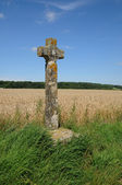 France, an old cross in Val d Oise — Stock Photo