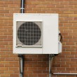 Air conditioning unit outside in Quebec — Stock Photo #17006191