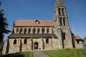 Val d Oise, the old church of Nesles la Vallee — Stock Photo