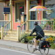 Canada, Quebec, bicycle touring in the village of Kamouraska — Stock Photo