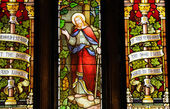 Quebec, stained glass window of Chalmers Wesley united church — Stock Photo