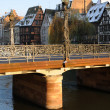 Bas Rhin, Sainte Madeleine bridge in Strasbourg - ストック写真