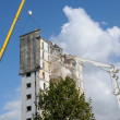 Stock Photo: Demolition of old tower in Les mureaux