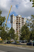 Demolition of an old tower in Les mureaux — Stock Photo
