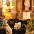 Nativity scene in Triel sur Seine church — Stock Photo