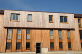 A wooden building in Magny en Vexin in Val d Oise — Stock Photo
