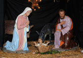 Nativity scene in Triel sur Seine church — Stockfoto