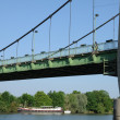 France, suspension bridge of Triel Sur Seine — Foto Stock