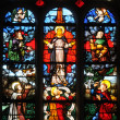 Stock Photo: Stained glass window in church Saint Martin of Triel