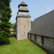 The historical church of Rosay sur lieure in Eure - Foto Stock