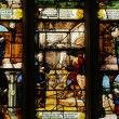 Stained glass window in the church Saint Martin of Triel - 
