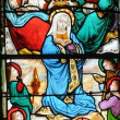 Stockfoto: Stained glass window in church Saint Martin of Triel