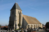 France, the Saint Remy church of Marcq — Foto Stock