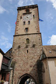 Alsace, medieval tower in Ribeauville — Stock Photo