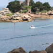 Bretagne, pink granite coast in Tregastel — Foto Stock