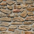 Horizontal picture of a old stone wall — Stock Photo