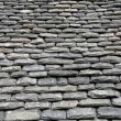 Close up of thick slates on a roof in Bretagne — Stock Photo