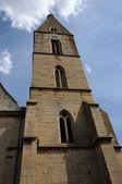 法国阿尔萨斯,教堂圣皮埃尔圣徒保罗的 eguisheim — 图库照片