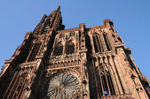 The cathedral of Strasbourg in Alsace — Stock Photo