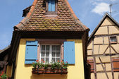 Alsace, the picturesque old village of Eguisheim — Stock Photo