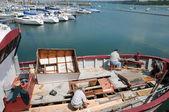 Bretagne, přístavu perros guirec — Stock fotografie