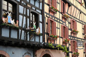 The picturesque village of Riquewihr in Alsace — Stock Photo
