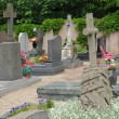 The cemetery of Oberhausbergen in Alsace — ストック写真