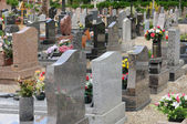 The cemetery of Oberhausbergen in Alsace — Stock Photo