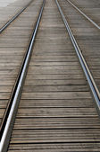 France, tramway in European Parliamant distric of Strasbourg — Stock Photo