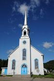 Quebec, historyczne kościół baie sainte catherine — Zdjęcie stockowe