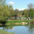 Stock Photo: France, pond in Brueil en Vexin