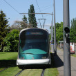 France, tramway in EuropeParliamant distric of Strasbourg — Stock Photo #20048773